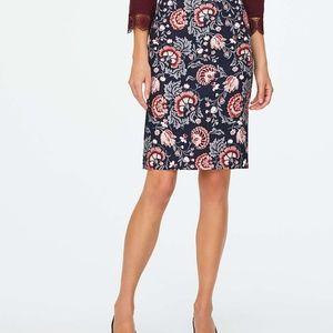 LOFT Skirts - Loft Floral Midi Skirt w/side slits